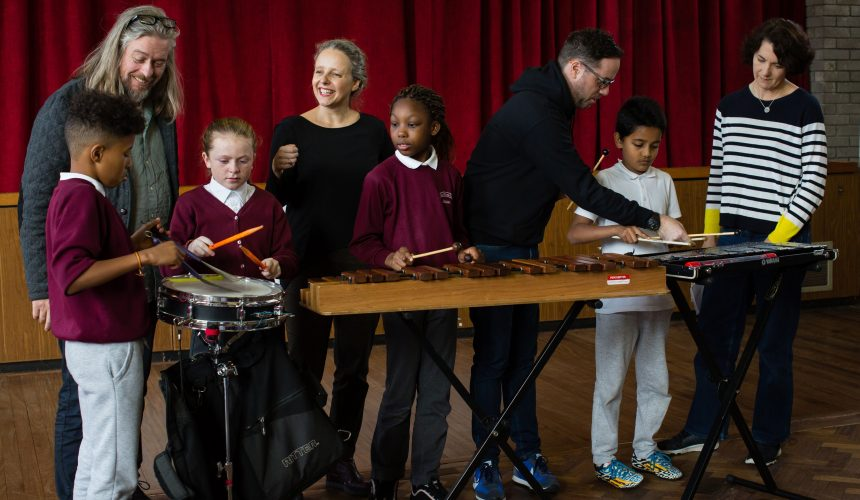 Children playing with percussion instruments2 - classical music concerts galway