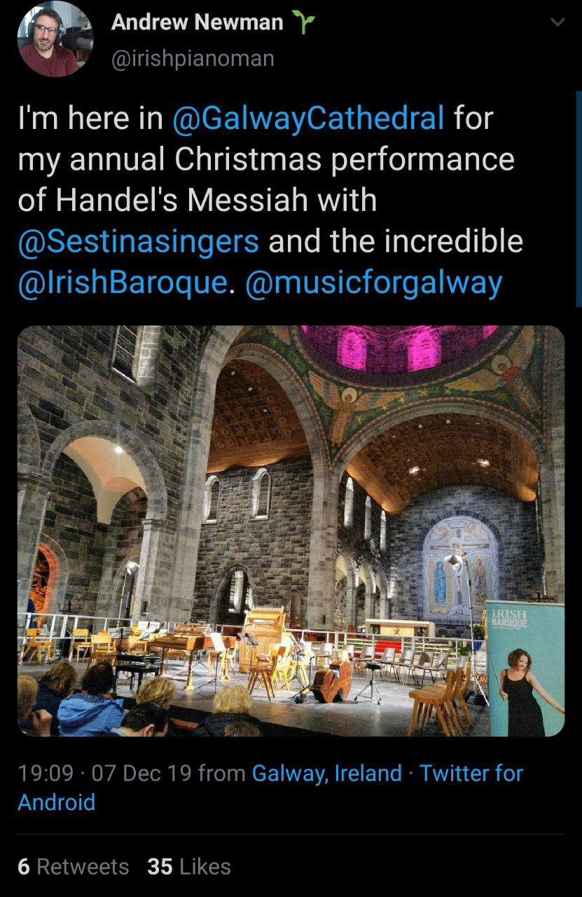 Handels messiah tweet