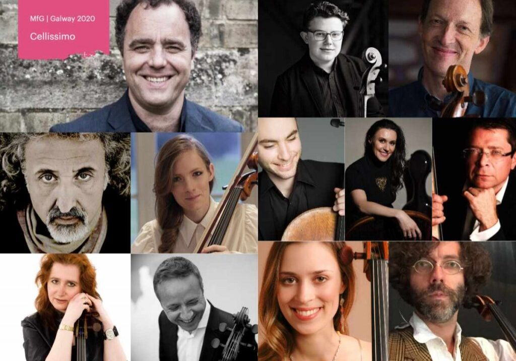 12 Cellists Collage